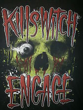 KILLSWITCH ENGAGE T SHIRT Skull Eyeball Bloody Socket KSE Retro Concert Tour S/M