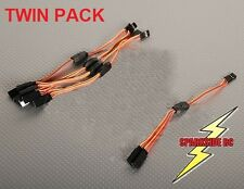 2 x 30cm Y Servo Extension Lead JR Aileron - high grade flexible 26 awg wire