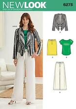 NEW LOOK SEWING PATTERN Misses' Jacket, Top, Pants & Skirt size 10 -22 6273
