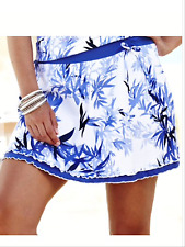 Simply Be Silhouette Plus Size 30 Violet Leaf SKORT Swim Shorts Skirt Holiday