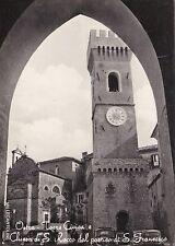 # OSTRA: TORRE CIVICA E CHIESA S. ROCCO DAL PORTICO DI S. FRANCESCO  1960