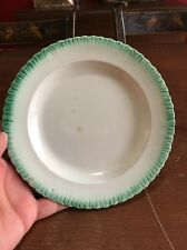 """Very Nice Antique Staffordshire Green Feather Edge Pearlware Plate 7 1/2"""" (B)"""