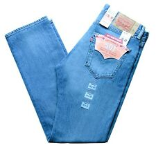Levi's 501 Mens Regular Fit Stretch Jeans Size 36 x 32 Light Blue Levis New