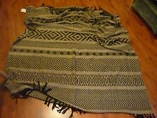"AM PM GREY/BLACK PATTERNED THROW FROM LA REDOUTE - APPROX 51"" X 62"" - NEW"