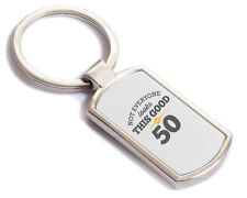 50th Birthday Gift Present Idea For Men Women Ladies Dad Mum Happy 50 Key Ring
