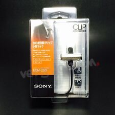 Sony ECM-CS3 Electret Condenser Business Clip Mini Microphone Original Brand New