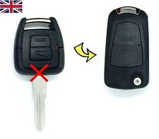 Vauxhall Opel Astra Vectra Zafira 2 Button CONVERSION Flip Remote Key Fob Case
