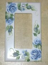 HP BLUE ROSE Single GFI Switch Plate Cover Cottage Chic