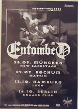 ENTOMBED CONCERT TOUR POSTER 2003 INFERNO