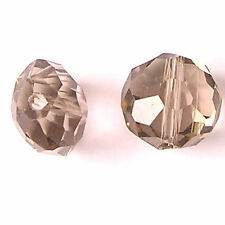 10 CRYSTAL GLASS 10MM FACET ROUND BEADS -BL.DIA - G098