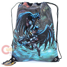 "DC Comic Batman Drawstring Backpack Sling Shoulder Bag 13""x17"""