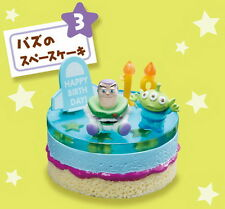 Japan Disney Dollhouse Re-ment Miniature Pixar Birthday Cake with age RARE #3