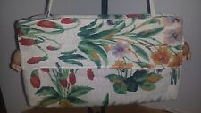 Carpet Bags of America Brand Vintage Tapestry  Handbag/Purse 13x8 Floral