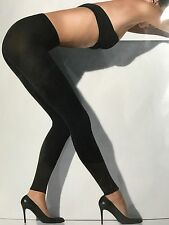 WOLFORD BLACK MAT OPAQUE 80 LEGGINGS SIZE M