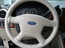 SAND 1996 Ford Windstar Genuine Leather Steering Wheel Cover Wheelskins AXX