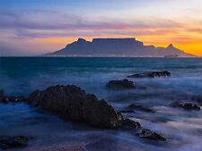 ART PRINT POSTER PHOTO ATMOSPHERIC TABLE MOUNTAIN SOUTH AFRICA LFMP0322