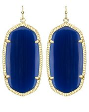 Kendra Scott Danielle Earrings in Navy Glass Cats Eye & Gold Plated