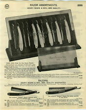 1929 PAPER AD Henry Sears & Son 1865 Queen Straight Razor Store Display Stand