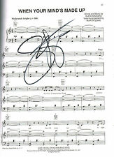 "Once Tony Winner Steve Kazee SIGNED ""When Your Minds Made Up"" Music Sheet COA"