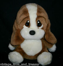 "8"" VINTAGE BROWN SITTING BABY SAD SAM PUPPY DOG STUFFED ANIMAL PLUSH TOY BOY"