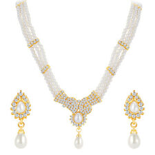 ShoStopper Ethnic Gold Plated Australian Diamond Necklace Set