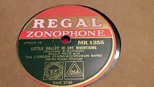 BILLY REID LITTLE VALLEY IN THE MOUNTAINS REGAL ZONOPHONE MR1355