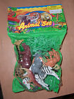90'S VINTAGE PLASTIC TOY ZOO ANIMALS SET MIB MINT NEW