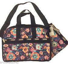 LeSportsac Paradise Bloom-Exclusive Hawaii -Medium Weekender 7184 includes Pouch