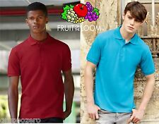 STOCK 100 Pezzi FRUIT OF THE LOOM Polo PREMIUM manica corta UOMO 13 COLORI