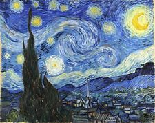 30x22 Van Gogh Starry Night Poster Print shrink wrapped