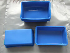 Silicone Mould 4 x Individual Mini Loaf Rectangle Cake Tin, Soap, Chocolate Bar