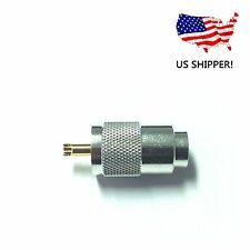 PL259 UHF Male Silver Teflon Connector with Gold Tip for Coax Cable - HAM RADIO