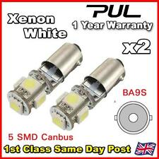2x 5 SMD LED XENON WHITE CANBUS ERROR FREE SIDELIGHT BULBS T4W BA9S BAYONET 5050