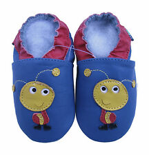 shoeszoo new soft sole leather baby shoes ant blue 18-24m S