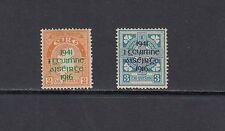 1916 REBELLION- Ireland - 1941 OVERPRINT set of 2- (SC 118-9)-MH/MLH-B269