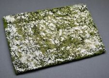 Snowy grass mat #1 scale 1:35 diorama scenery. Highly detailed and realistic.
