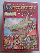 Carcassonne expansion-ponts, châteaux & les bazars, neuf avec règles anglaises