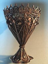 Antique 1800 Filigree sterling Silver Zarf or egg cup,Turkish Ottomon hand made
