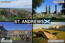 SOUVENIR FRIDGE MAGNET of ST ANDREWS SCOTLAND GOLF