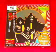 KISS HOTTER THAN HELL JAPAN AUTHENTIC SHM MINI LP CD NEW OUT OF PRINT UICY-93651