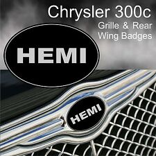Chrysler 300c Hemi Logo Grille & Rear Wing Badge Emblems
