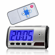Spy Camera Alarm Clock Mini Video Recorder Nanny Hidden Cam DVR Motion Detection
