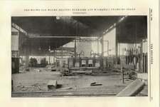 1895 ROTONDO in ROVERE opere riscaldamento forni Gru idraulica di ricarica