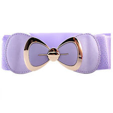 Ladies Buckle Bow / Wide Skinny Thin Waist Belt Women Stretch Elastic Waist Band