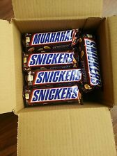 SNICKERS CHOCOLATE BOX OF 24x50g BARS.BEST BEFORE 27/08/2017.