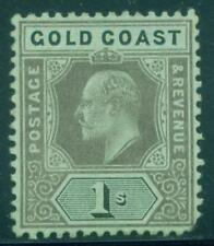[JSC]1913-21 Gold Coast Postage Revenue K.George 1s Green