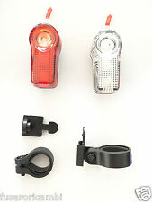 SET LUCI FANALINO ANTERIORE E POSTERIORE LED BICI BICYCLE BIKE CICLO LIGHT