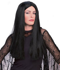Adult Officially Licensed Addams Family Morticia Wig Adams Womens Black Hair NEW