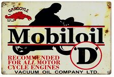 "Reproduction Mobil  Gas And Oil D Vintage Looking 12"" x 12""  Sign"