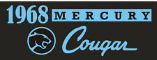 C038 1968 Mercury Cougar muscle sports classic car banner garage signs